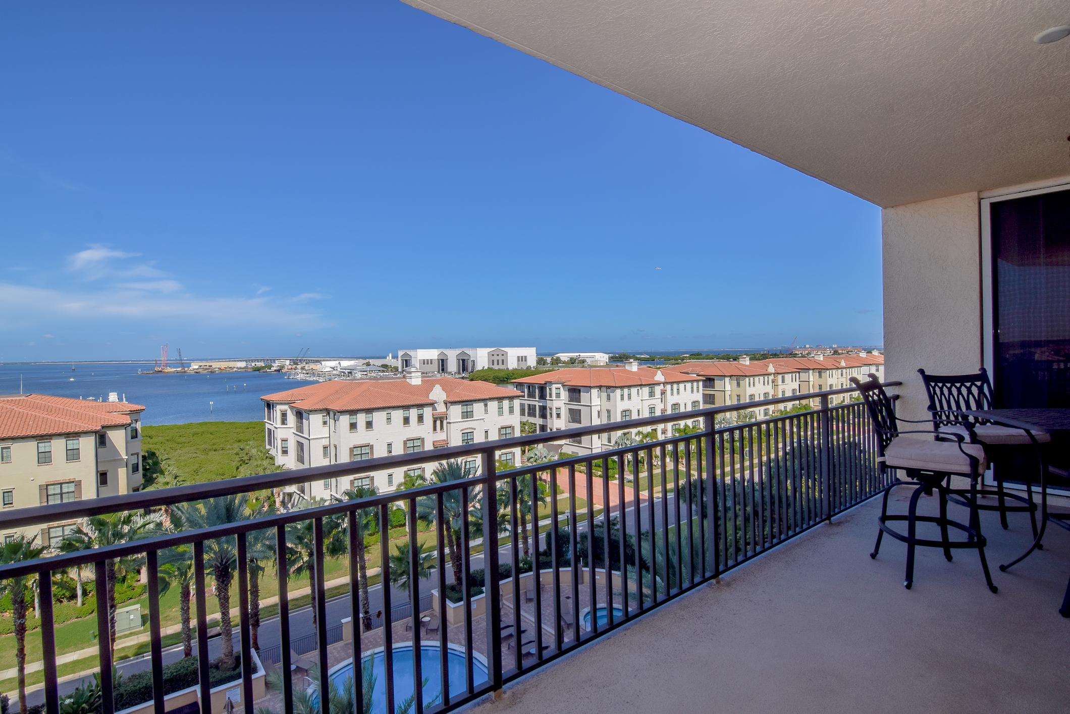 Balcony and Views- 7th Floor Condo For Sale