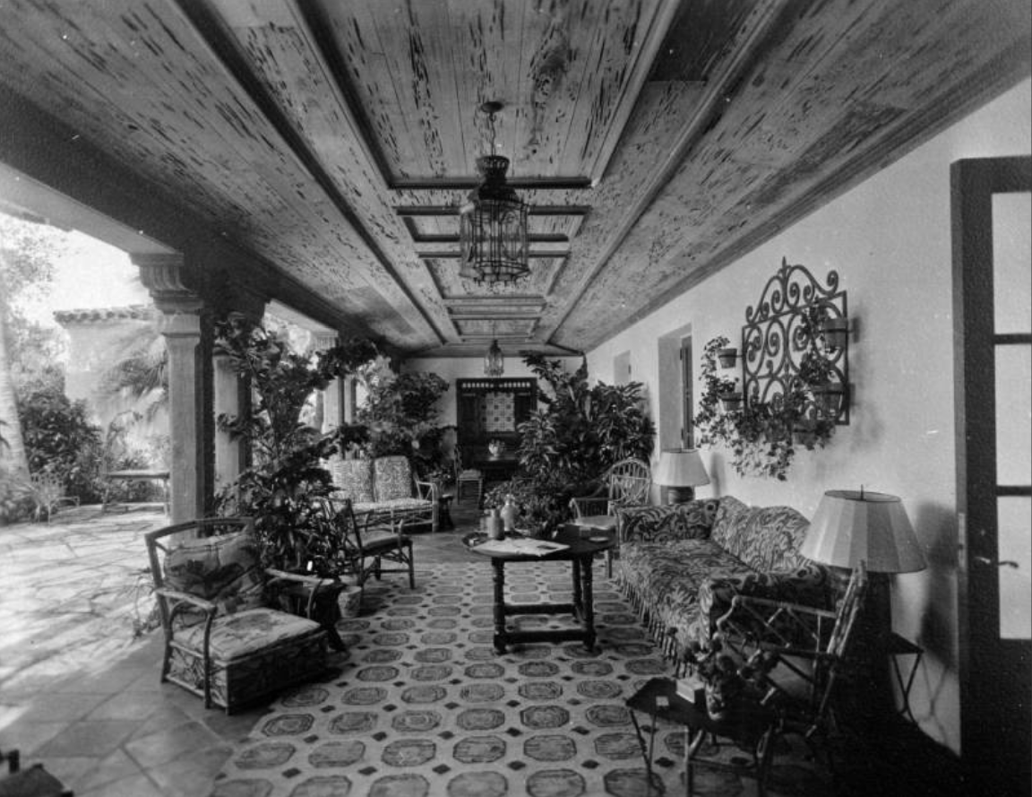 Spanish patio - Denver residence (may be Evans house) 1940