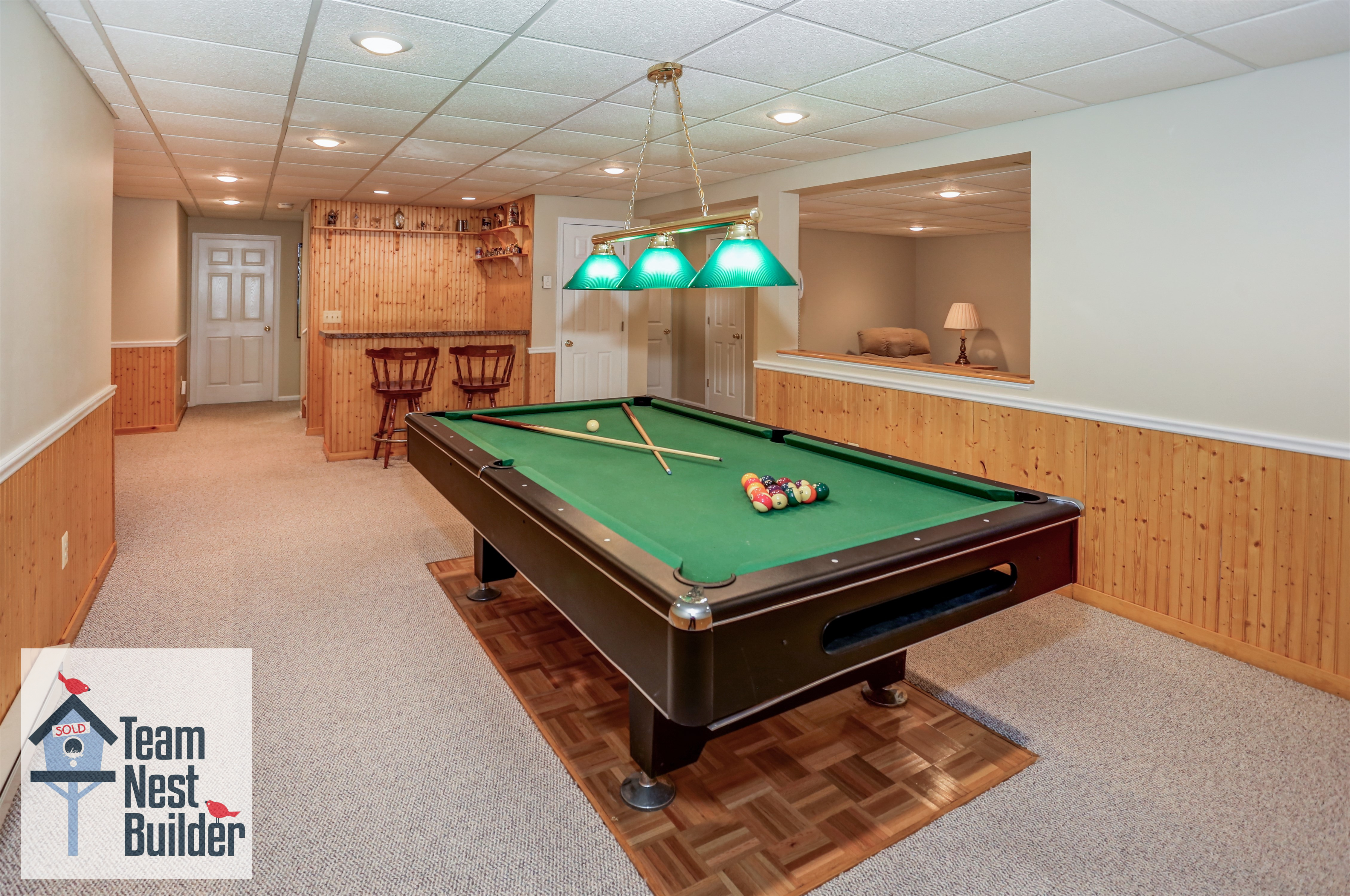 Fantastic recreation area in the full-finished basement