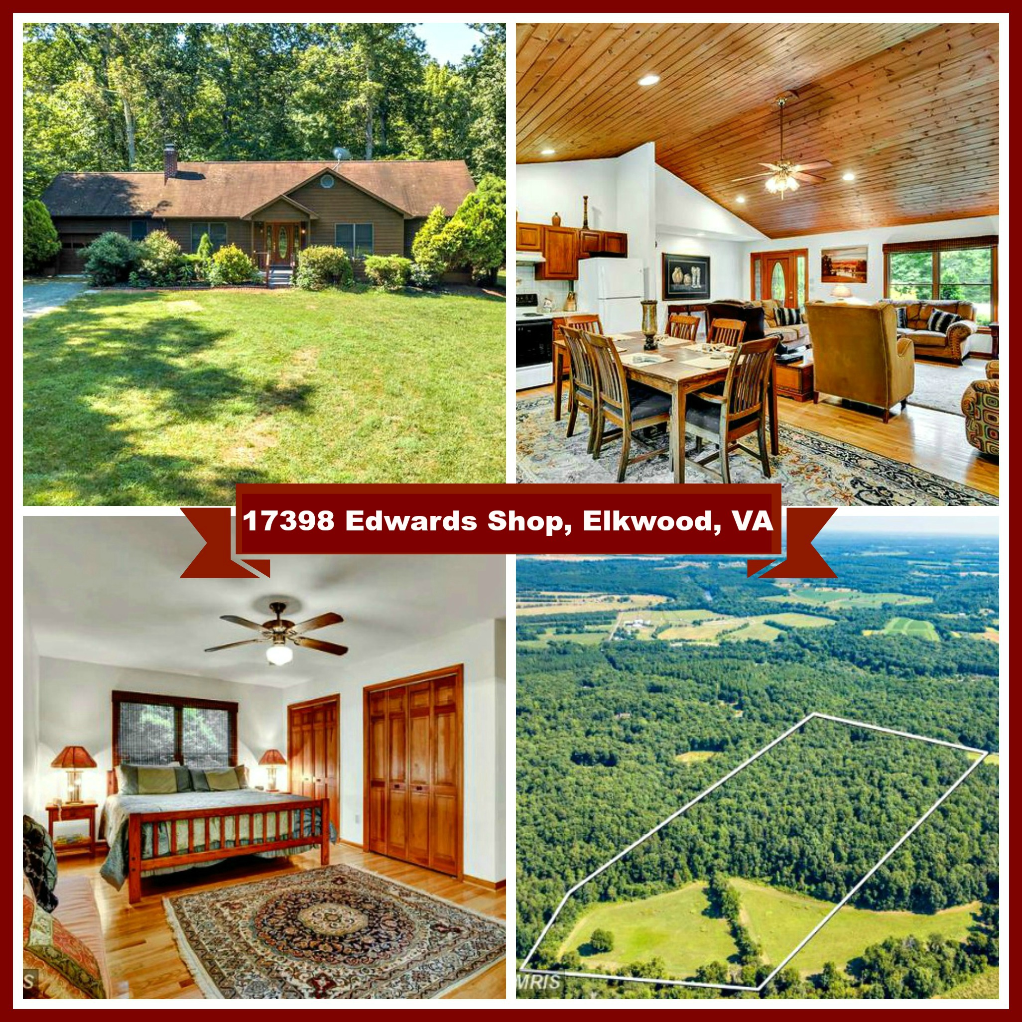 17398 Edwards Shop Road, Elkwood, VA B&B for Sale