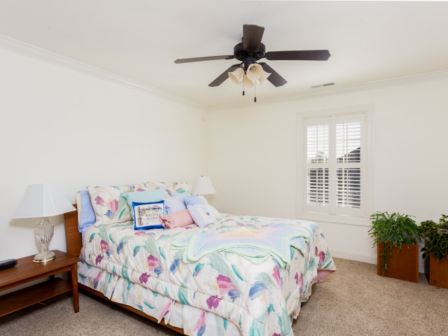 Large bedroom with private bath. This room has a very large closet also. Perfect for teenager, guests or anyone that needs more space and privacy.