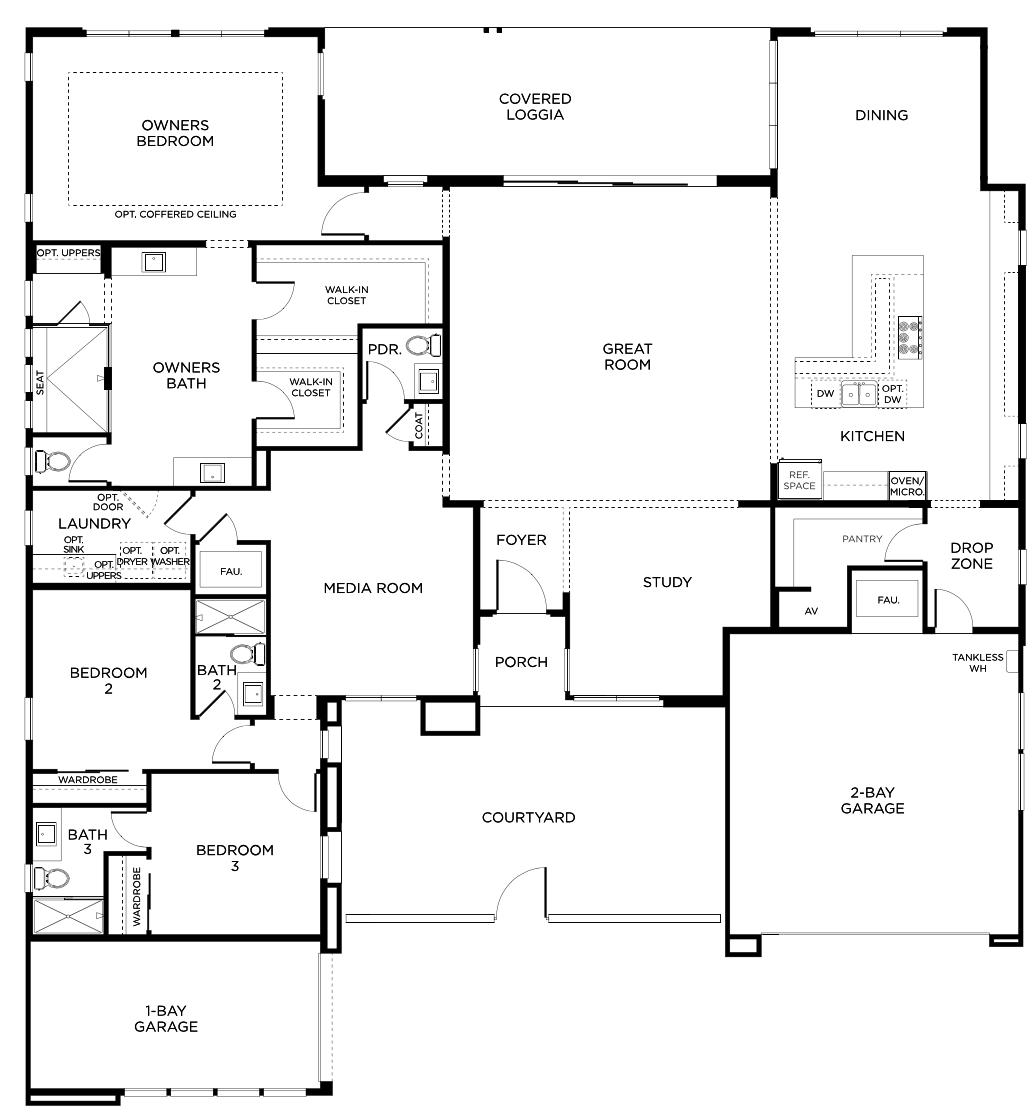 Picture of: Mid Century Modern Homes For Sale Summerlin Sandalwood By Pardee Homes Plan One