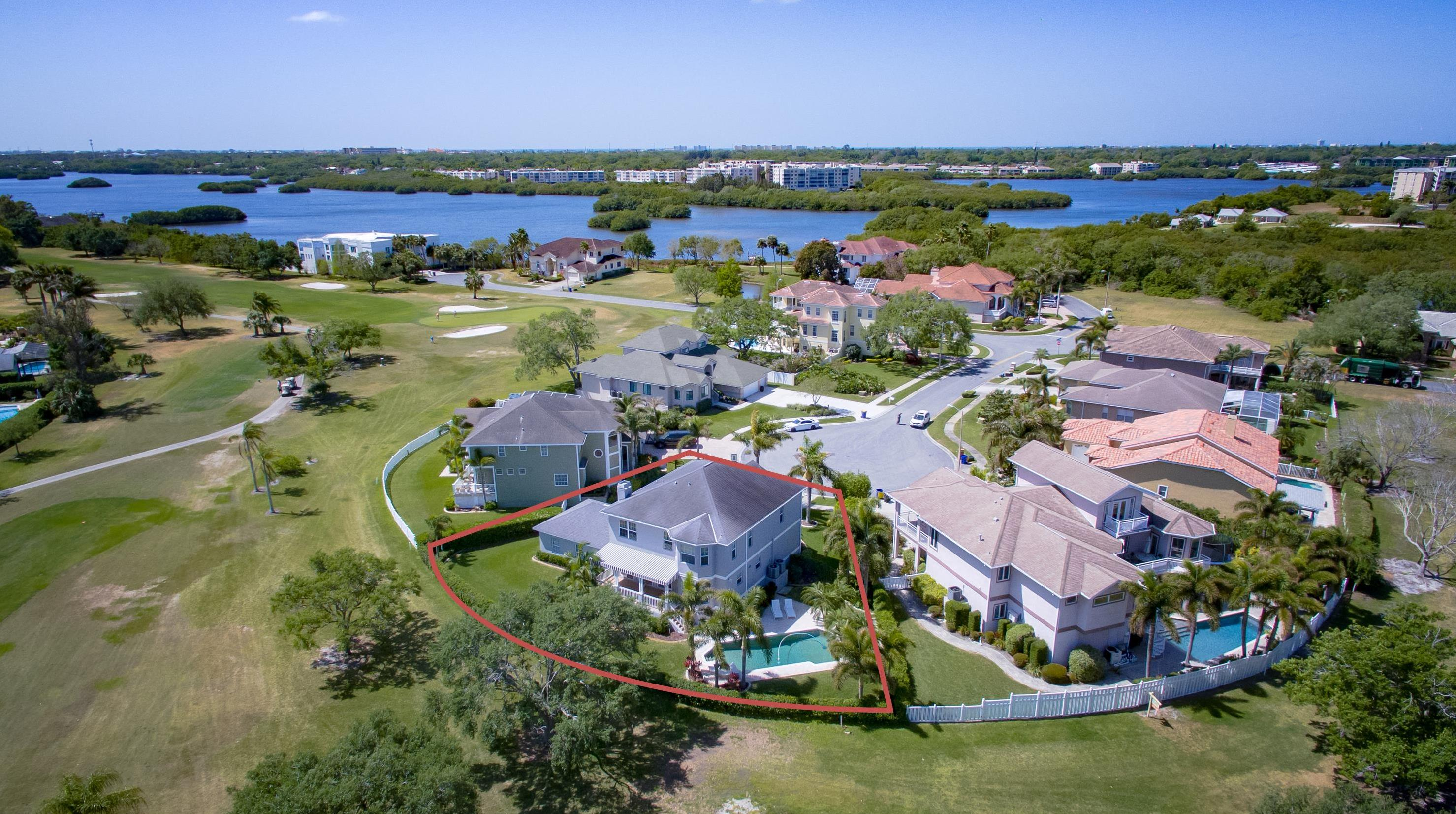 Aerial View of the Home and Golf Course