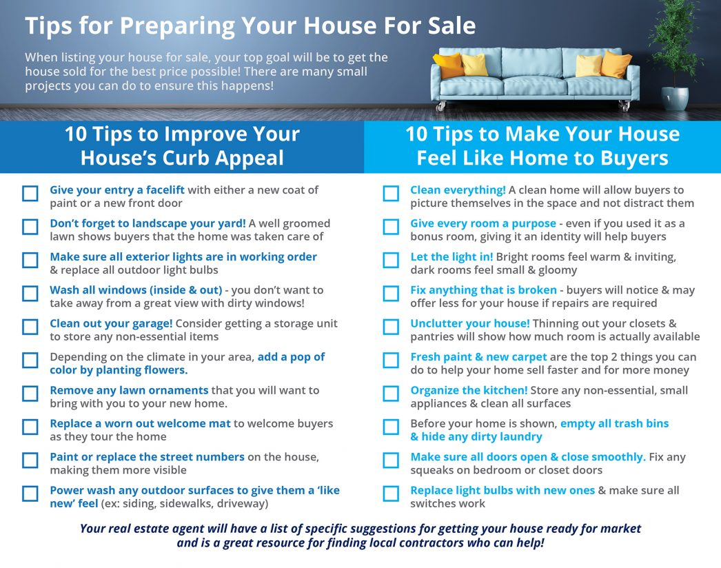 20 Tips To Sell Your Home For Top Dollar Home Selling Tips on home business tips, home inspection tips, home packing tips, home design tips, home security tips,