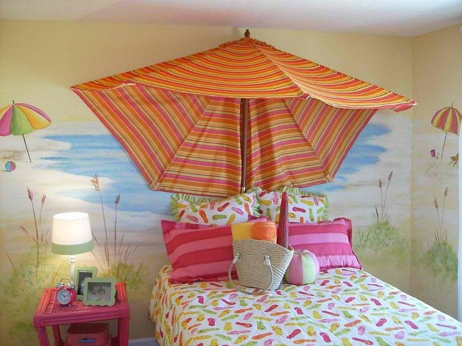 Beach Mural with Umbrella - Lisa Birdsong