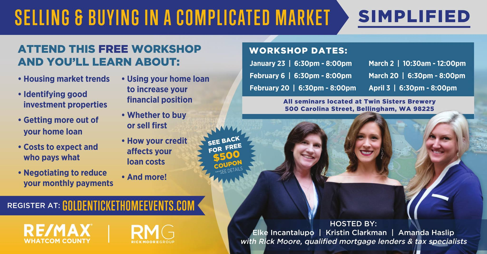 selling-buying-complicated-market-real-estate-workshop-simplified-golden-ticket-home-events-free-twin-sisters-brewery-bellingham-wa-whatcom-county