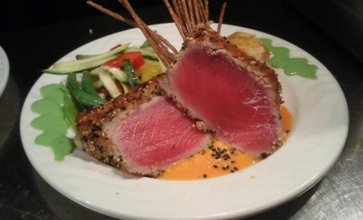 Snapper's Sea Grill- Wasabi Crusted Tuna