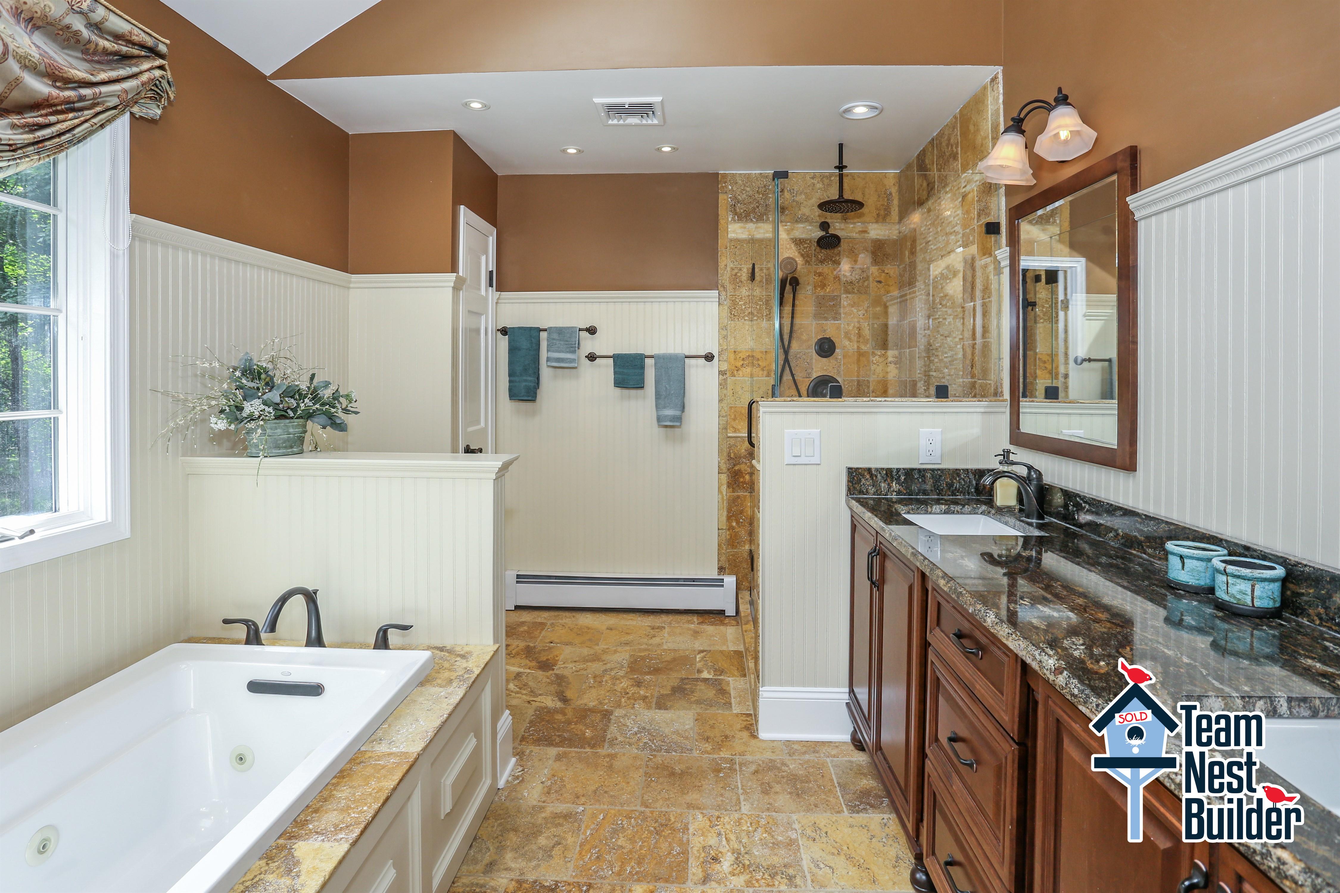 Gorgeous master bathroom
