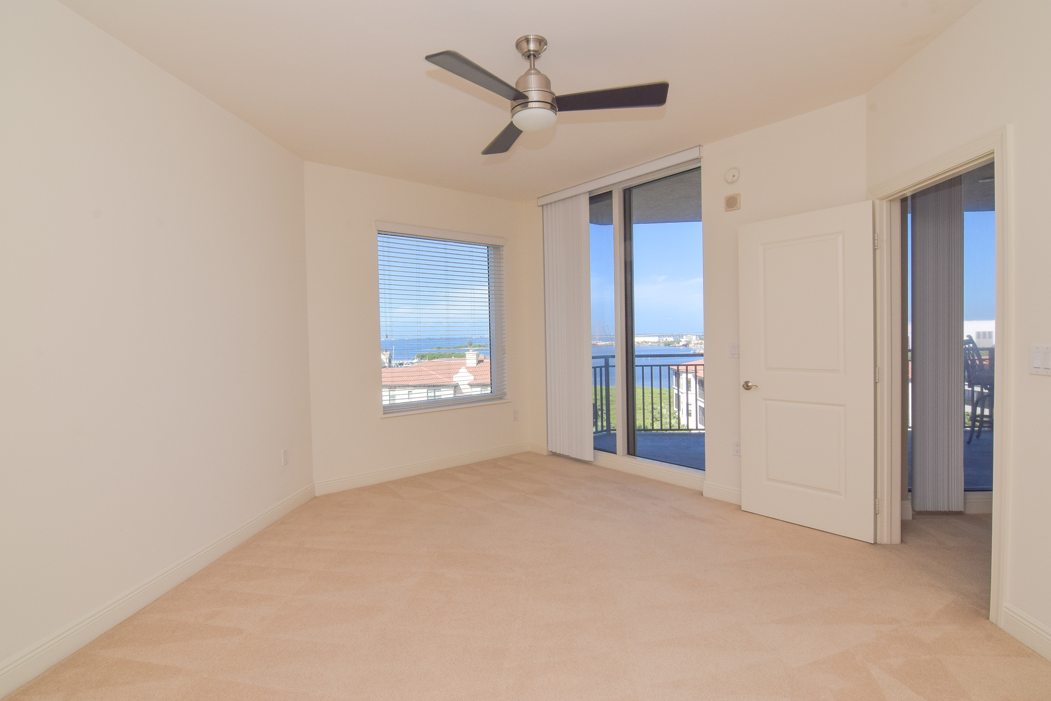 2nd Bedroom with Balcony Access & Water Views