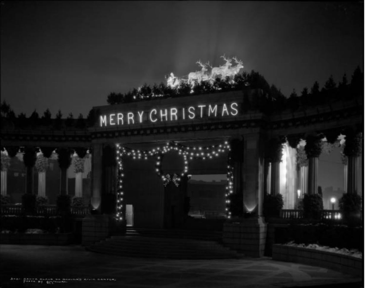 Greek Theater at Christmas time 1920's