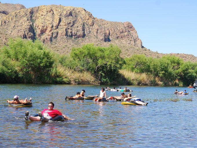 Phoenix, AZ Salt River Tubing Opening Weekend
