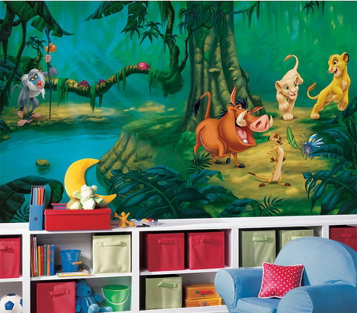 Marvelous Lion King Wall Mural Part 11