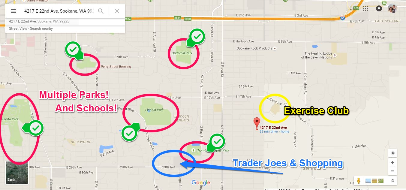 4217 E 22nd Ave Spokane WA Lifestyle Map