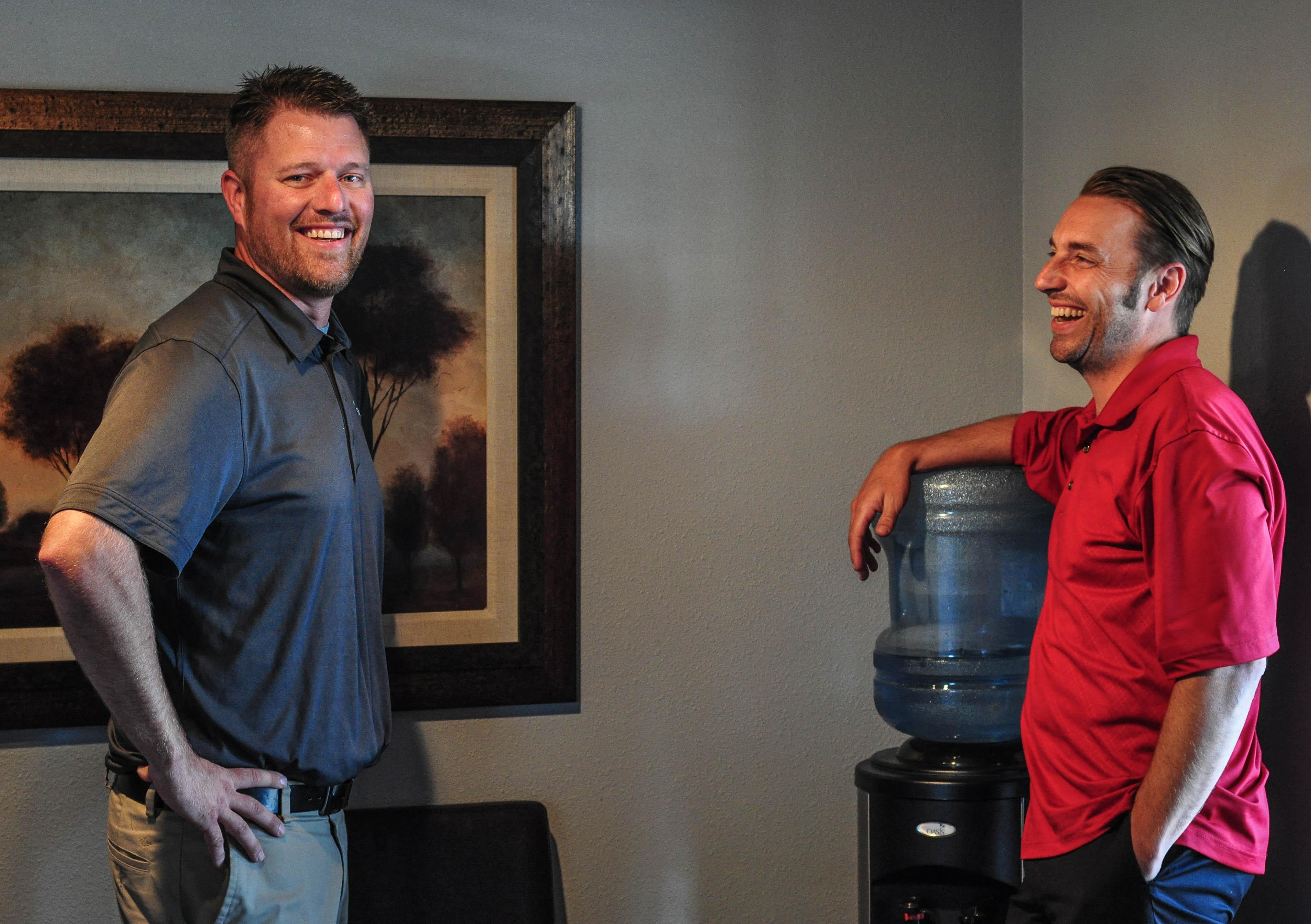 Shael Larson and Owner Matt Side Water Cooler Talk