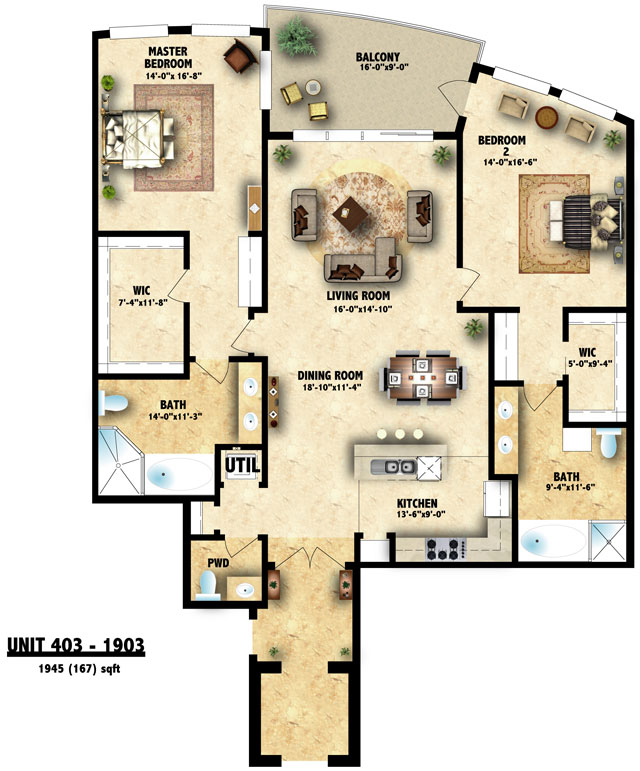 Size and Floor Plan