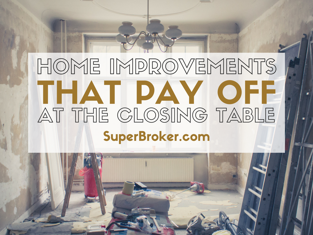 Home Improvements That Pay Off at the Closing Table