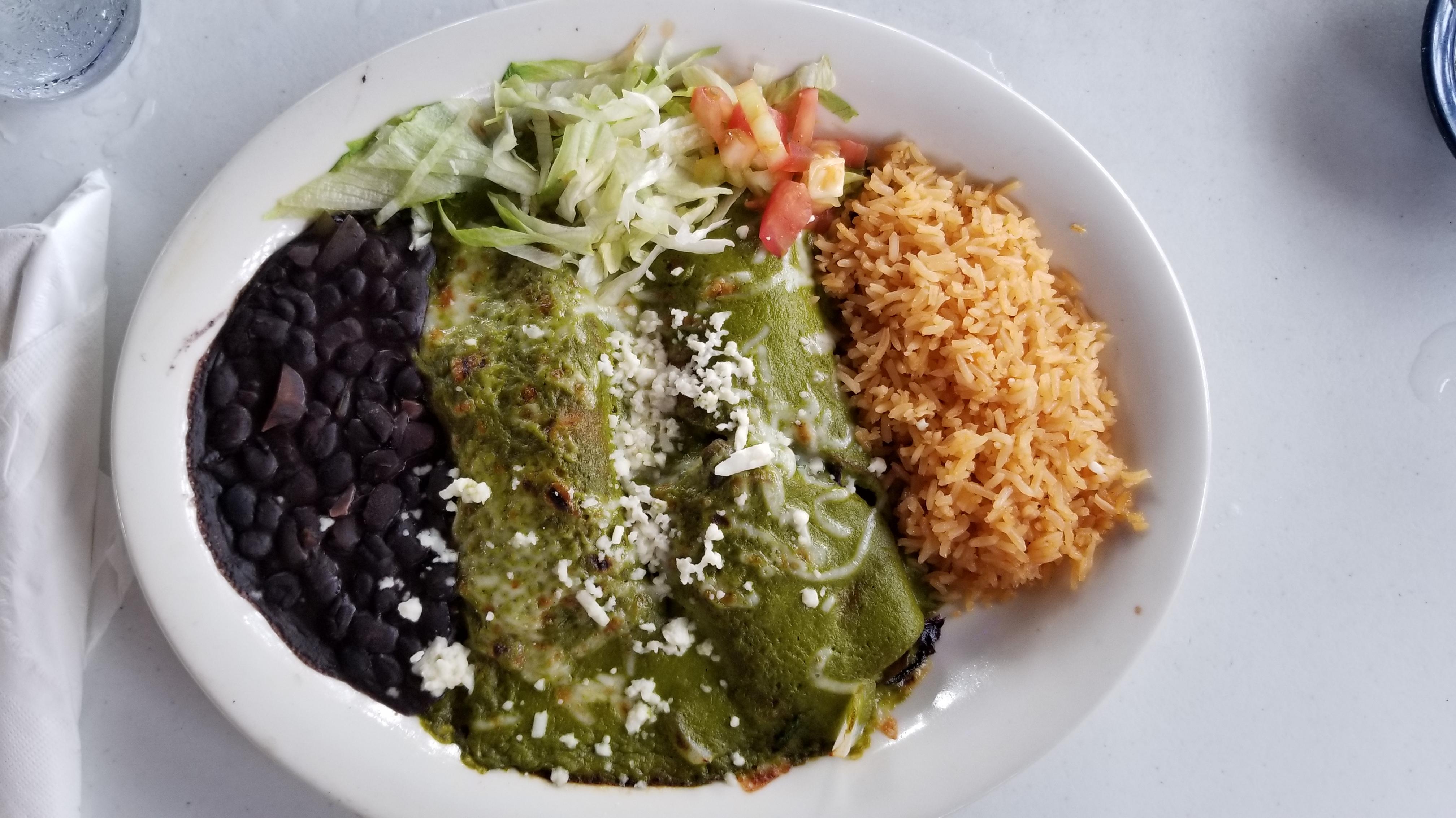 Veggie Enchiladas with Poblano Sauce