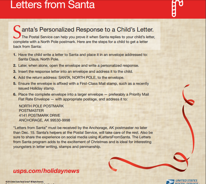 Letters from Santa Instructions