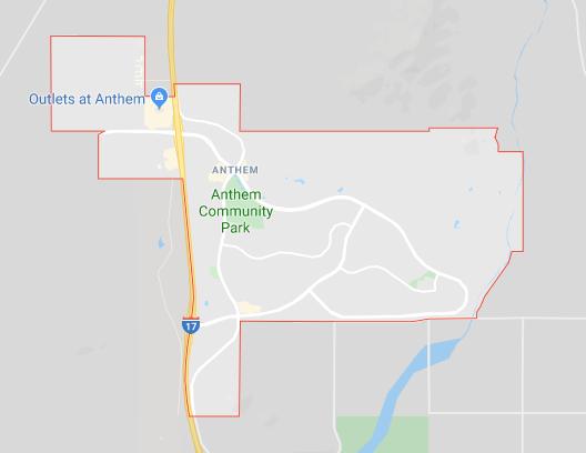 Map of Anthem Arizona