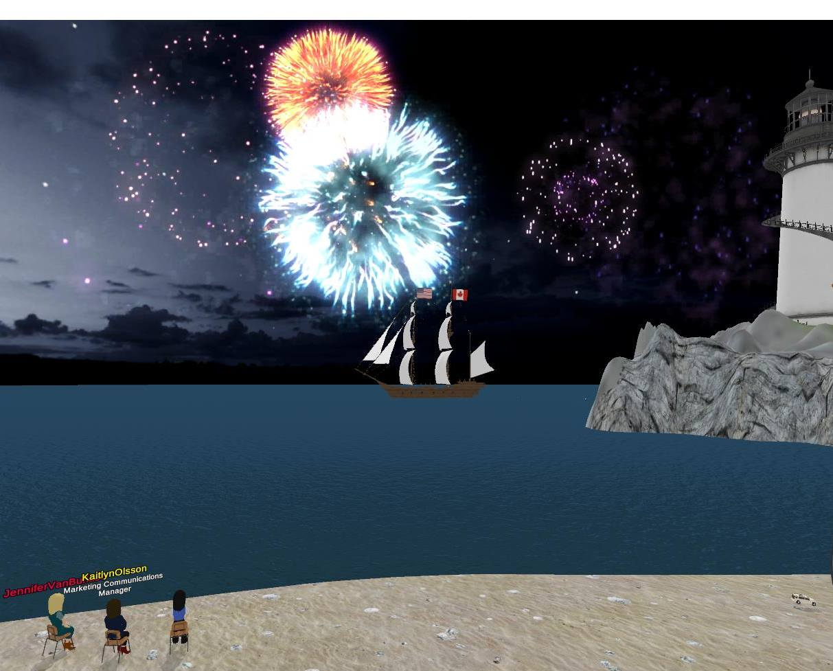 Fireworks on the beach at eXp Realty, Beth Ellyn Rosenthal, eXp Realty