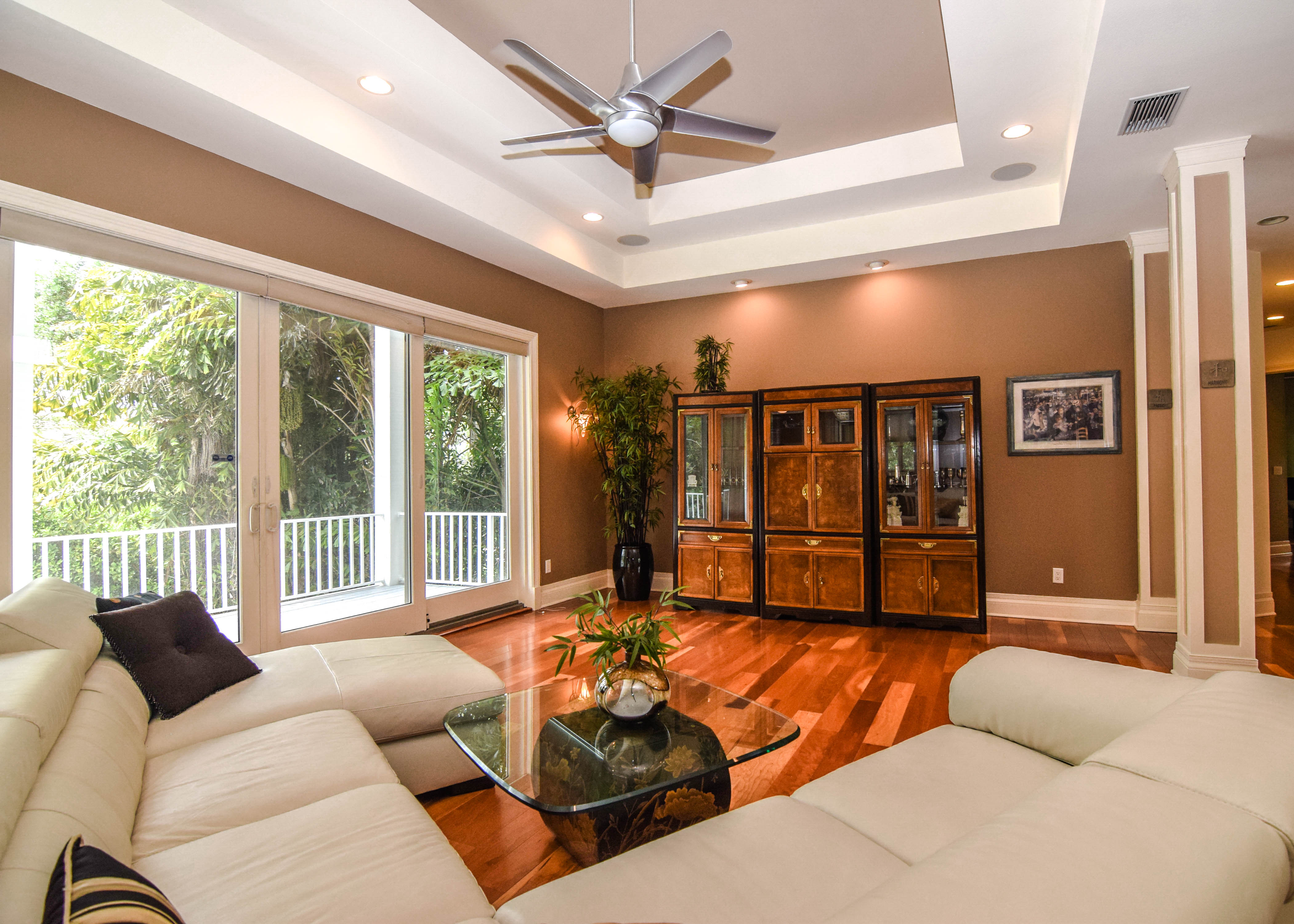 Great Room with Balcony Access