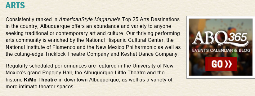 Albuquerque Arts and Entertainment
