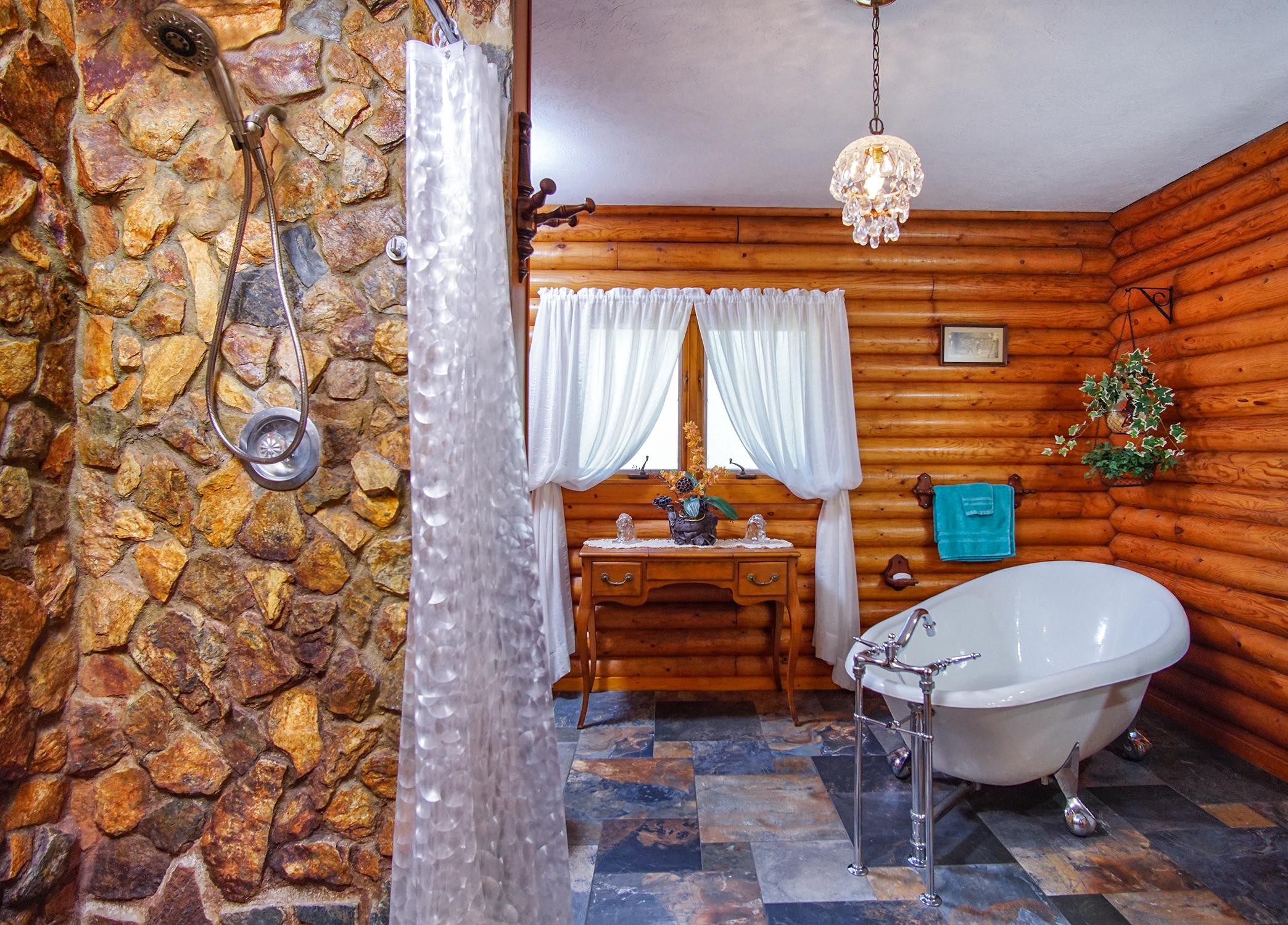 Master Bath with Claw Foot Tub