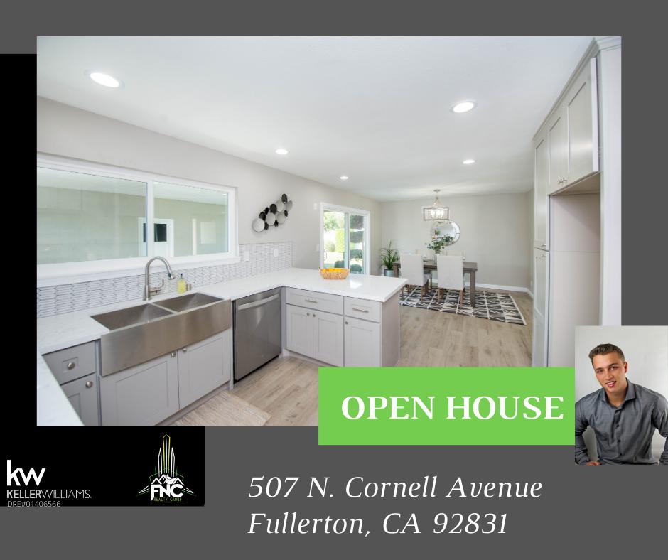 507 N Cornell Ave. Fullerton CA 92831 Open House