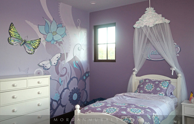 Purple Butterfly Mural - Lisa Birdsong