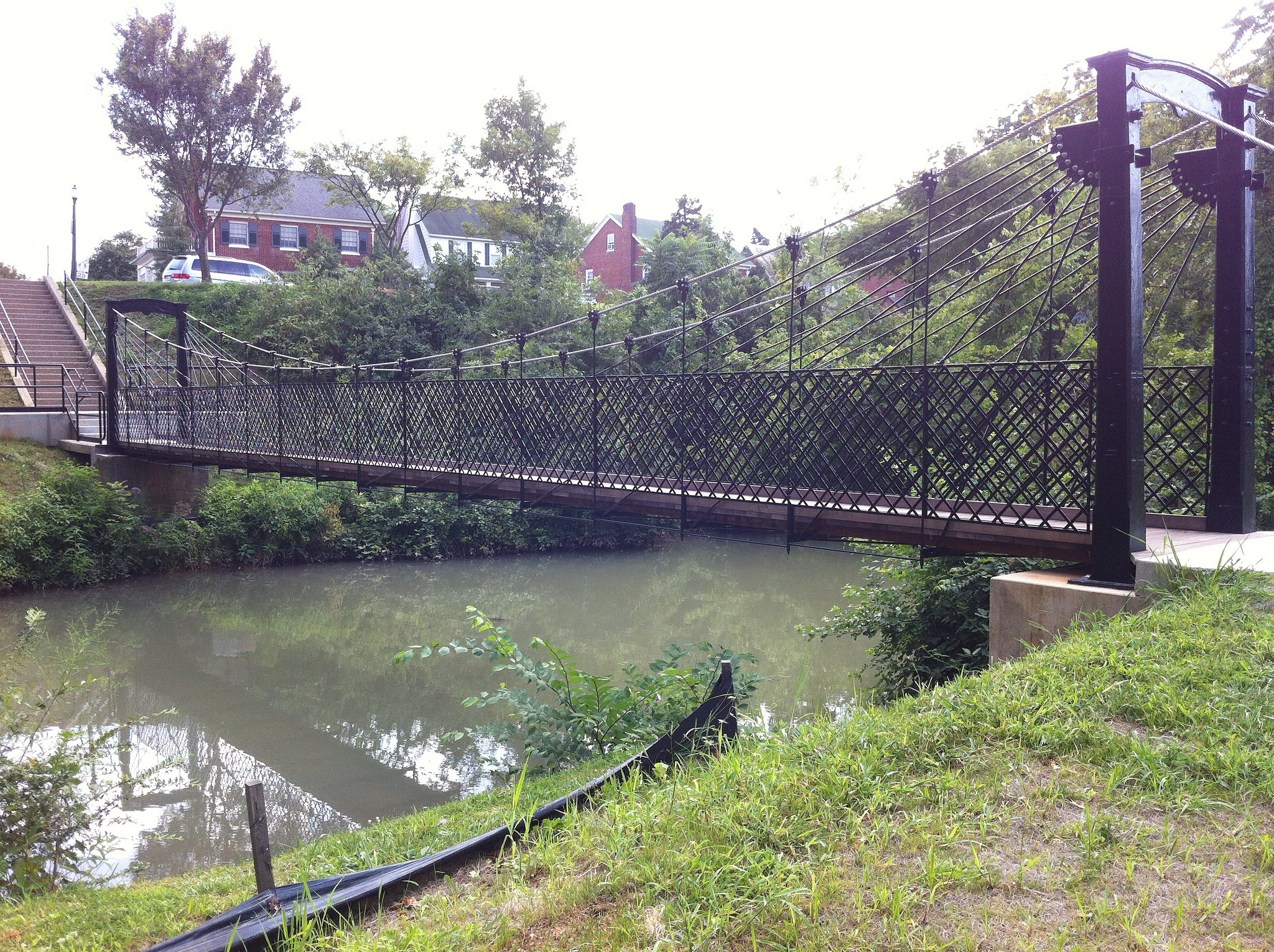 Walking bridge over Carroll Creek