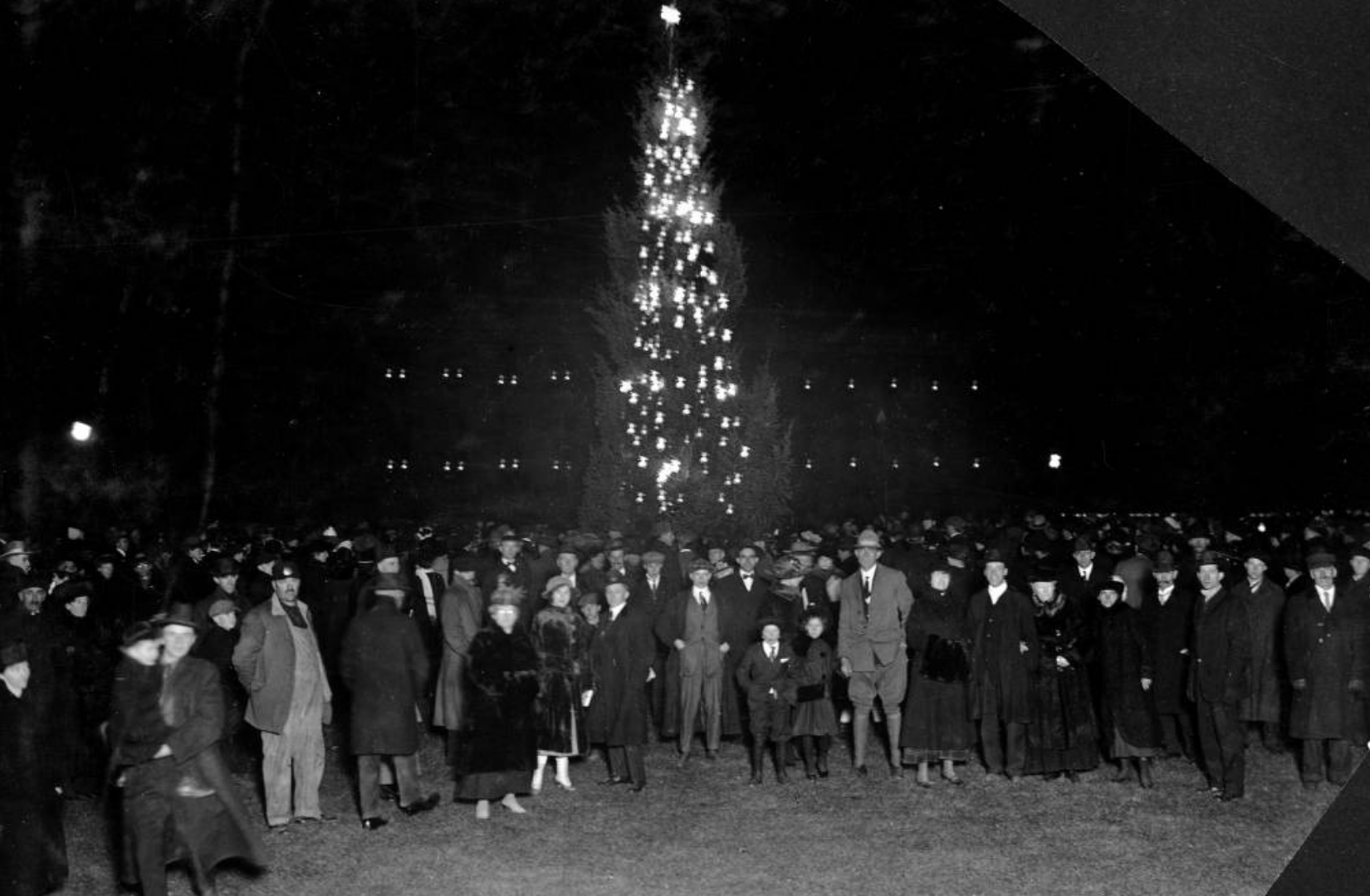 Denver's very first illuminated tree 1920