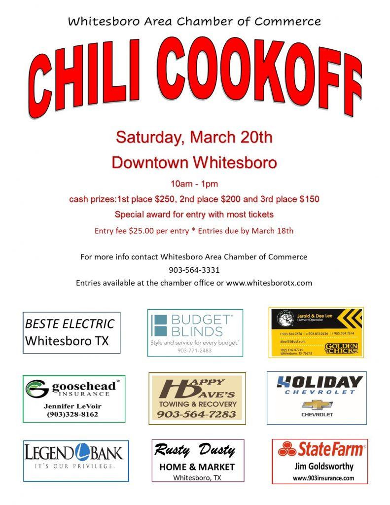 Whitesboro TX Chili Cookoff downtown Whitesboro