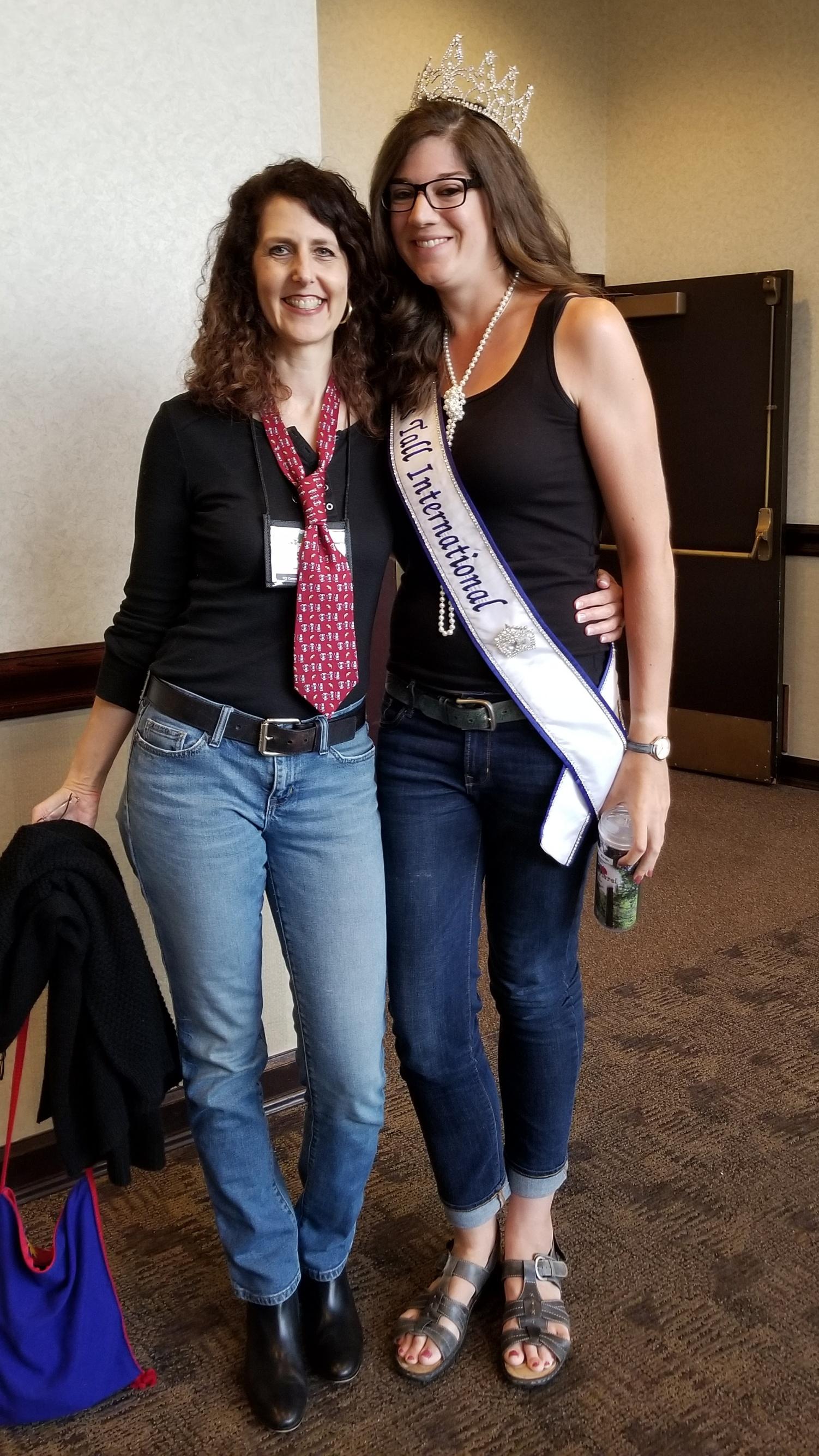 With Lauren, 2017 TCI Queen.