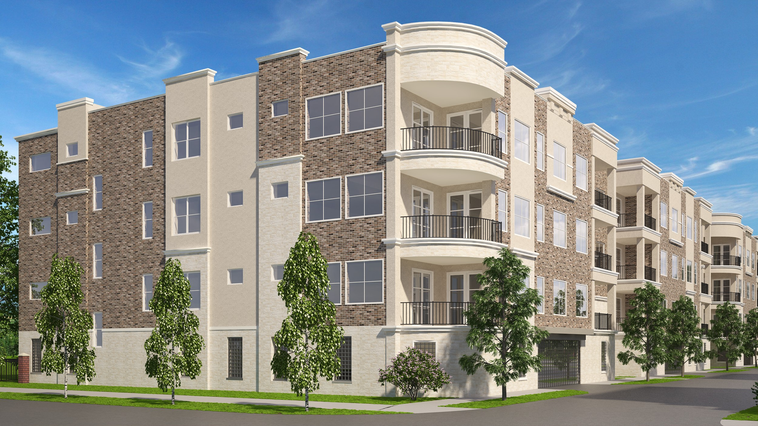 Exterior Rendering of Residences on Duck Creek Trail