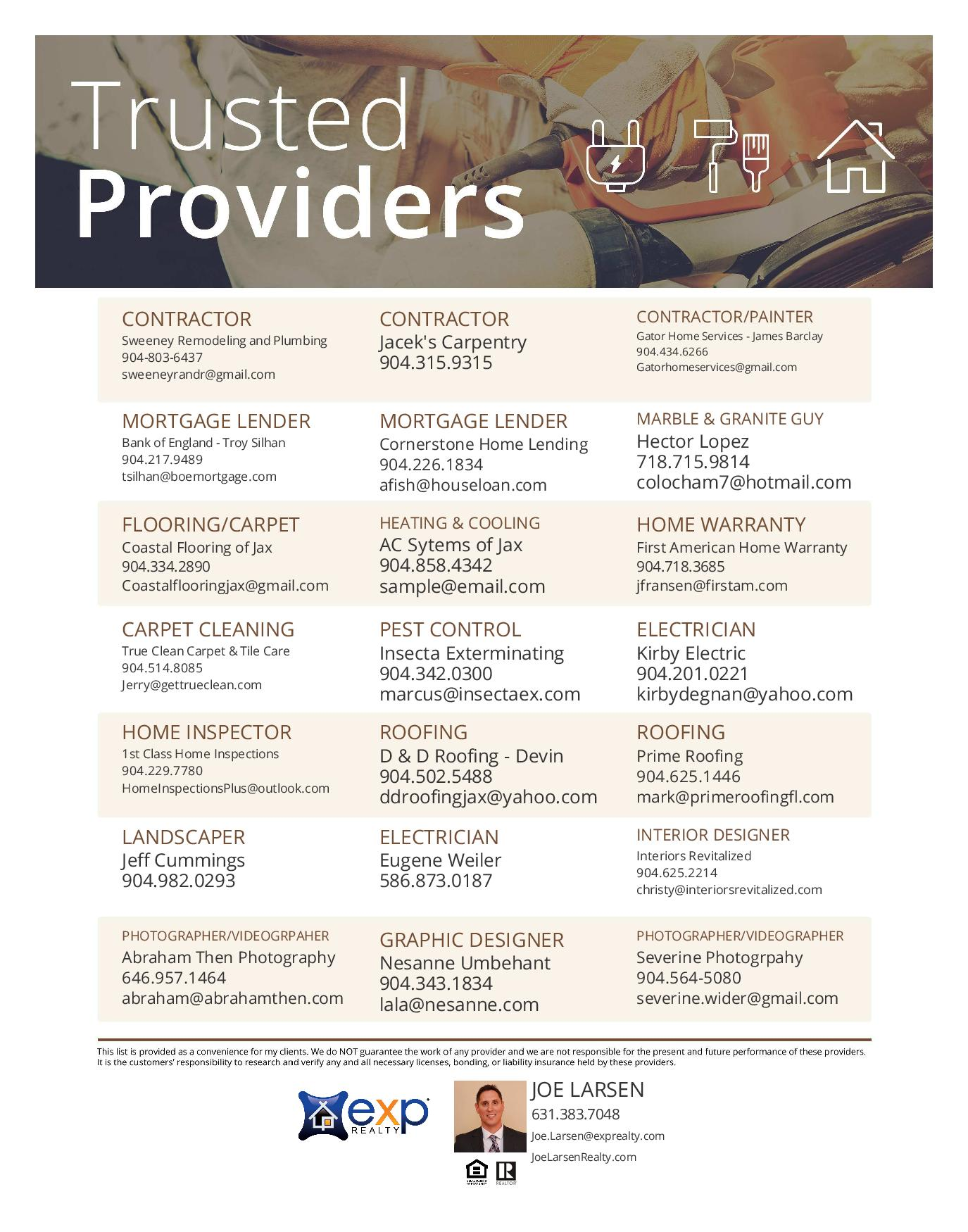 Trusted Providers