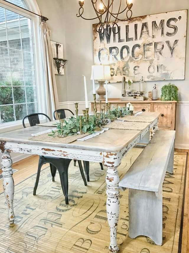 30 Ways To Create A Trendy Industrial Dining Room: 30 Ways DIY Farmhouse Decor Ideas Can Make Your Home Unique