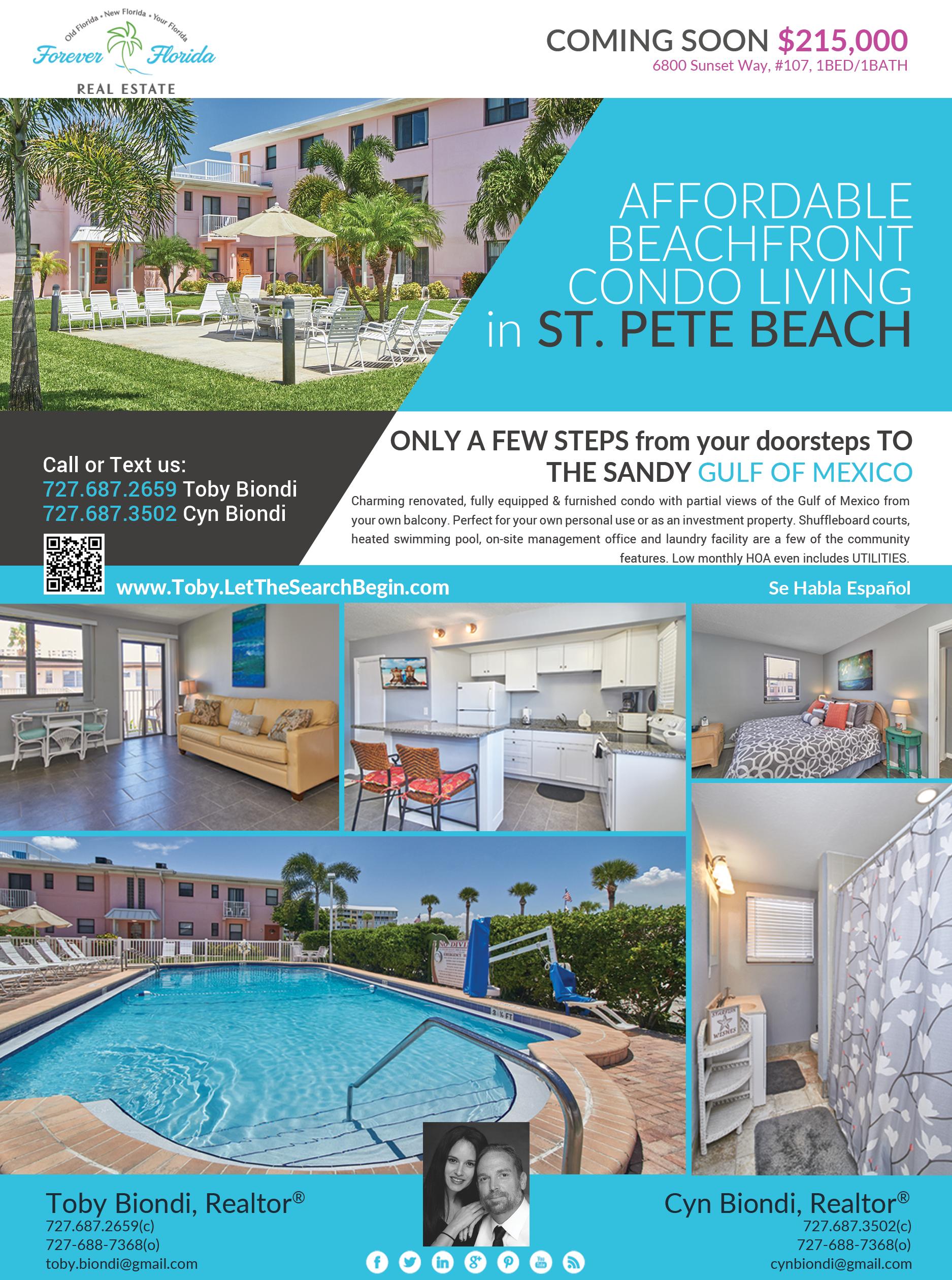 Beachfront Condo for Sale St Pete Beach