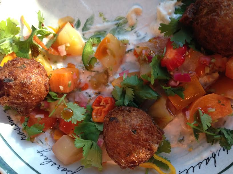 Green tomato fritters