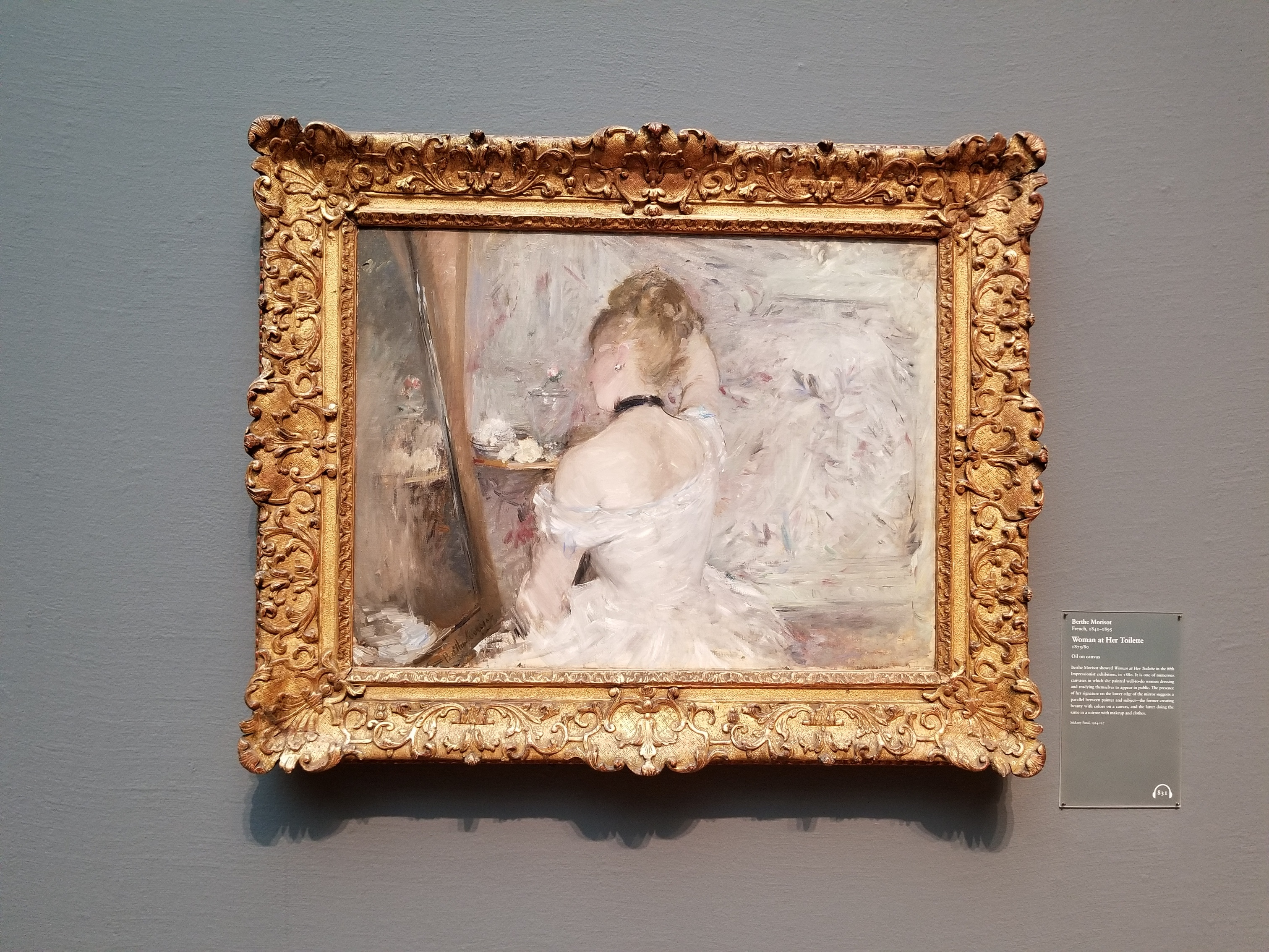 Woman at Her Toilette - Berthe Morisot