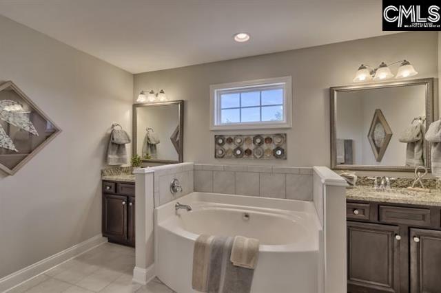Gorgeous Master Bath with split vanity