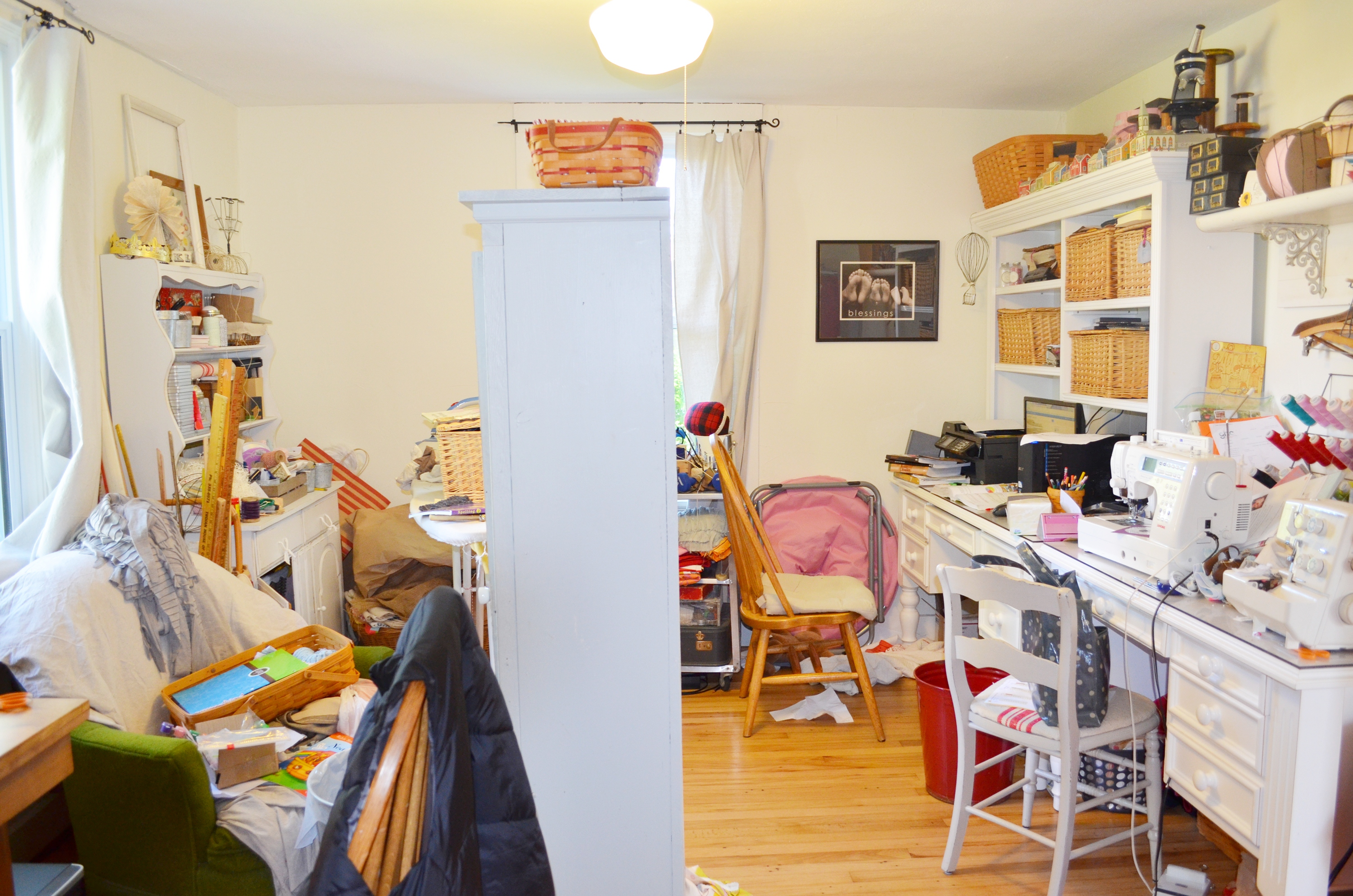 Declutter before you start marketing your home to sell.