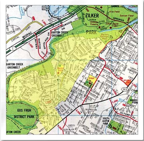 Barton Hills - boundary map