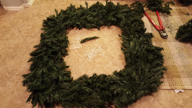 How To Make An Extra Large Wreath From An Artificial Tree
