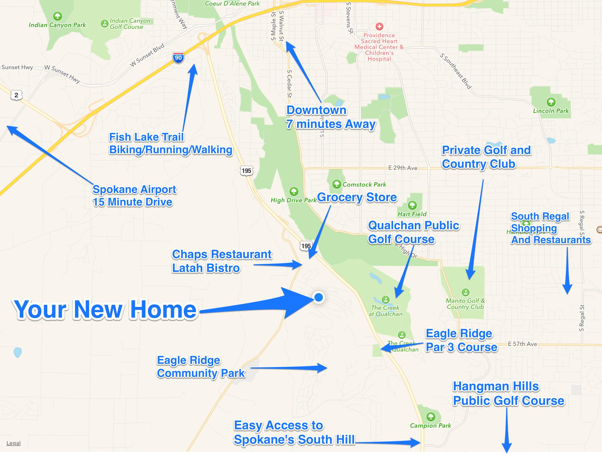 1016 W Bolan Ave Spokane WA 99224 Lifestyle Map