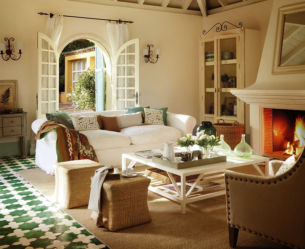 French Doors and Tile Floors