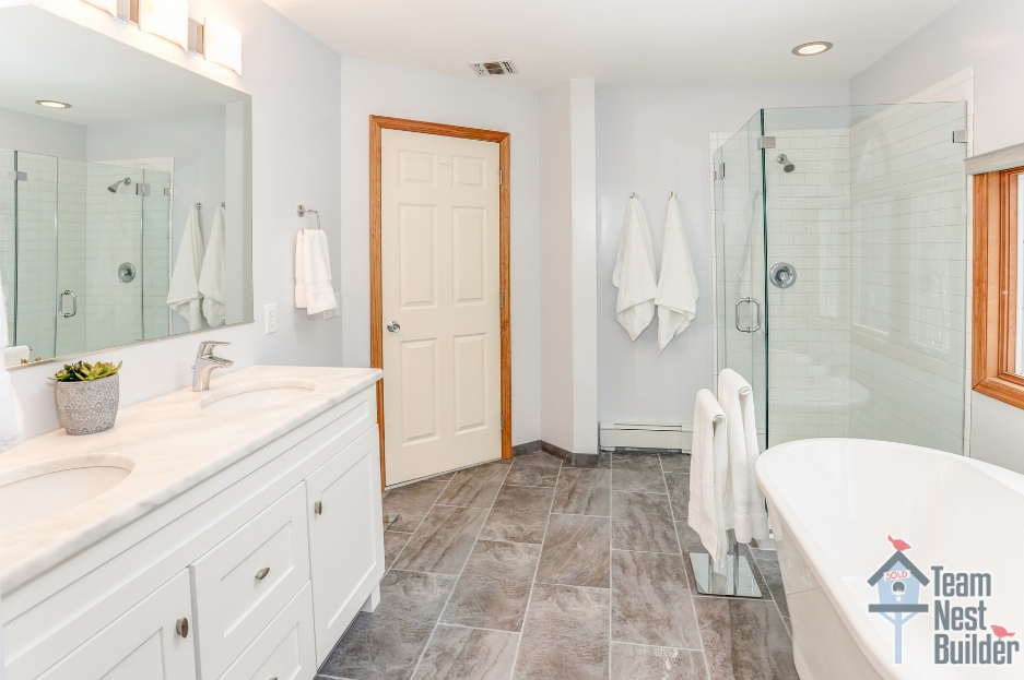 Newly remodeled master bathroom