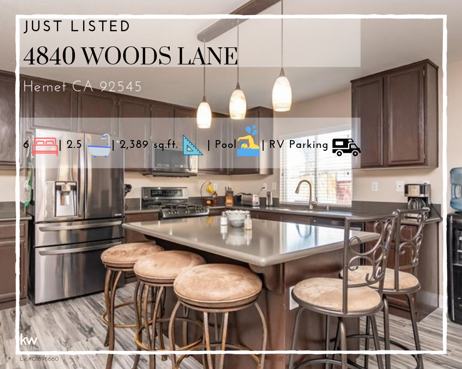 4840 Woods Lane Hemet Home for Sale
