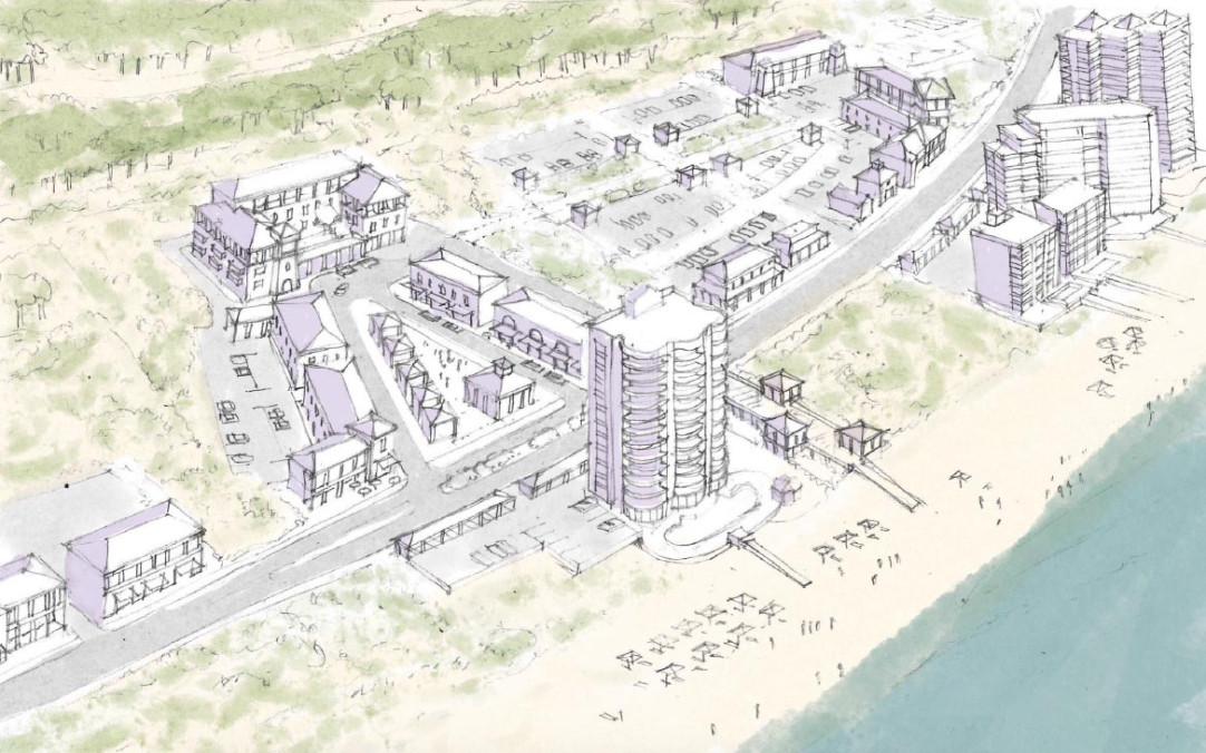 One of several proposed downtown designs as part of a Perdido Key Master Plan. (Credit: DPZ)