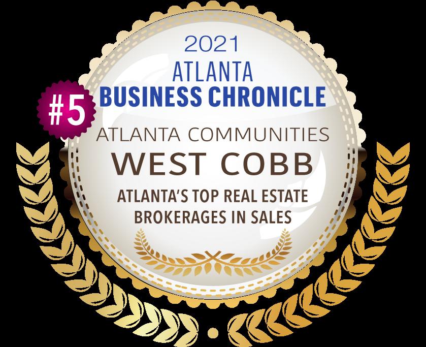 2021 Atlanta Business Chronicle Top Brokerage Sales Award