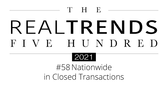 2021 Real Trends 500 Nationwide Closed Transactions Award